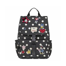 Cath Kidston Mickey & Friends Patches grey spot buckle rucksack