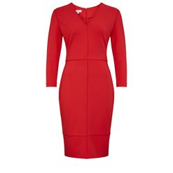 Women's dress in red