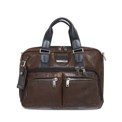 Tumi, brown briefcase