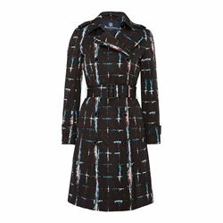 Atkinson Printed Check Quilted Trench