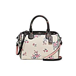 Coach Mini Bennett Satchel Cross Stitch Floral Print Mix