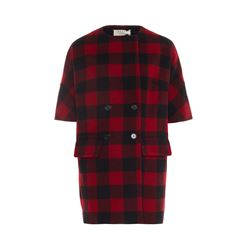 Marni  Check wool duster coat from Bicester Village