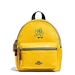 Women's backpack 'Mickey Leather Mini Charlie' in yellow by Coach at Ingolstadt Village