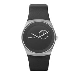 Skagen men's watch in black by Watch Station International at Wertheim Village