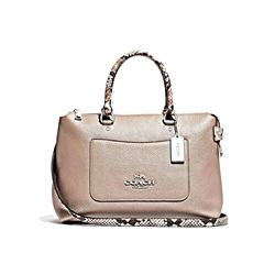 Coach Women's Metallic Exotic Trim Emma Satchel