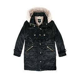 Juicy Couture Hooded parka coat in black