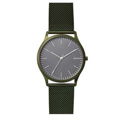 Skagen men's watch in green by Watch Station International at Wertheim Village
