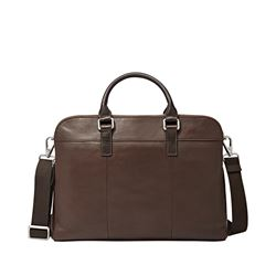 Fossil  Mercer brown workbag from Bicester Village