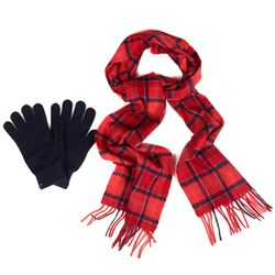 Men's Scarf and Glove set