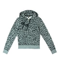 Juicy Couture Leopard print mint zipped hoodie