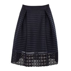Ted Baker  Lace and mesh panelled skirt from Bicester Village