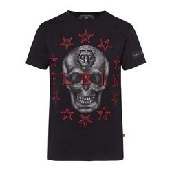 Black red skull T-shirt