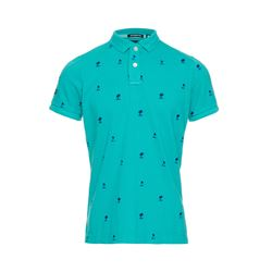 Superdry  Bermuda teal polo from Bicester Village