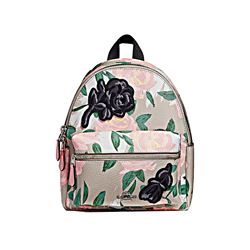 Coach Mini Charlie Backpack Camo Rose Floral Print with Motif