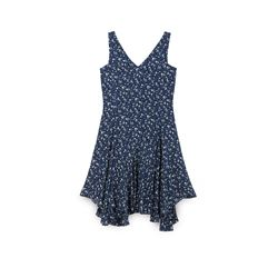Polo Ralph Lauren, Blue floral print dress