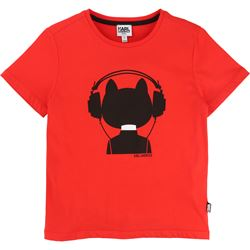 Karl Lagerfeld Kids Choupette Red Tee-Shirt