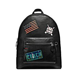 Coach West Backpack In Pebbled Leather With American Dreaming Patches