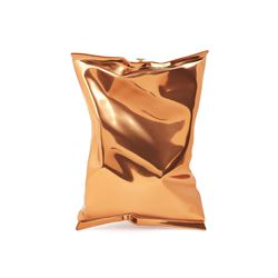 Anya Hindmarch chestnut brass crisp packet