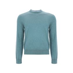 Brooks Brothers Men's Teal Jersey Crewneck Jumper
