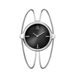 Calvin Klein Watch in silver by Hour Passion at Wertheim Village