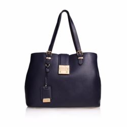 Kurt Geiger Boutique Mandy black lock slouched tote