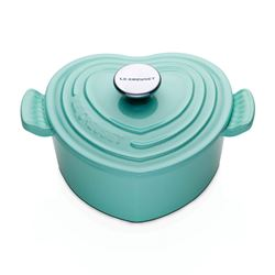 Le Creuset  Mint heart casserole dish from Bicester Village
