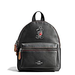 Damen-Rucksack 'Mickey Leather Mini Charlie' in Schwarz von Coach in Wertheim Village