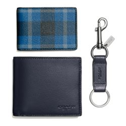 Coach 3 in 1 wallet gift box in plaid