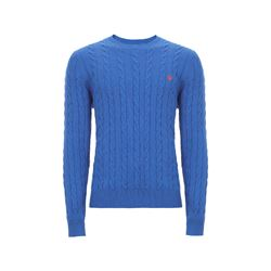Brooks Brothers Blue Cable Crewneck Jumper