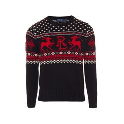 Polo Ralph Lauren Black novelty Iconic reindeer sweater from Bicester Village