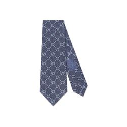 Gucci Men's midnight blue/sky blue Deiene tie