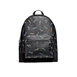 Coach Black West Backpack Logo Car Print