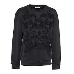 Sandro - Black jumper with relief detail