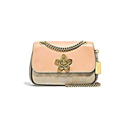 Coach Women's Signature exotic leather mix floral turnlock mini cassidy crossbody