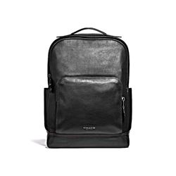 West Backpack In Metallic Coach Cutout