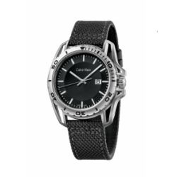 Hour Passion Calvin Klein earth black dial nylon watch