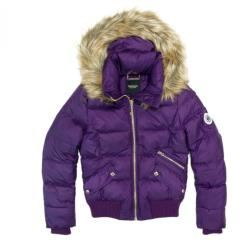 Juicy Couture Hooded padded jacket in purple