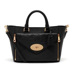 Mulberry small willow tote ostrich