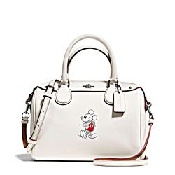 Women's bag 'Mickey Leather Mini Bennett' in white by Coach at Ingolstadt Village