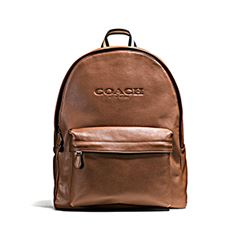 Charles backpack sports in brown by Coach at Wertheim Village