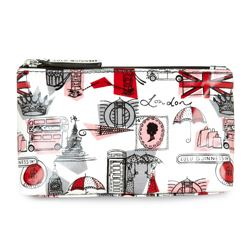 Lulu Guinness laminate T-seam cosmetic bag