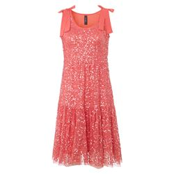 dress in salmon pink