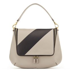 Anya Hindmarch Maxi zip satchel in grey and white capra