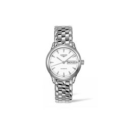 Longines  35mm White steel automatic from Bicester Village
