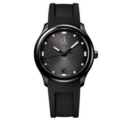 Calvin Klein Watch in black by Hour Passion at Wertheim Village