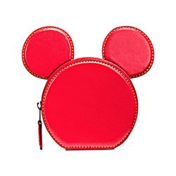 Coach Bright Red Mickey Leather Ear Coin Case from Bicester Village