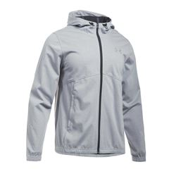 Men's jacket in grey by Under Armour at Wertheim Village