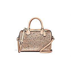 Coach Women's gold Star Glitter Micro Bennett Satchel