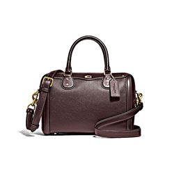 Coach Women's oxblood Elevated Pebbled Leather Ivie Bennett