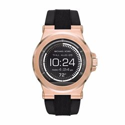 Watch Station Michael Kors Access Dylan rose gold tone silicone smartwatch